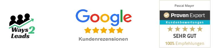 Logo und Bewertung Pascal Mayer und Ways 2 Leads